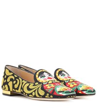 Charlotte Olympia Matrioska Embroidered Loafers Multicoloured
