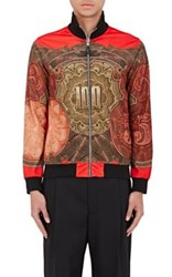 Givenchy Men's Money Print Track Jacket Red