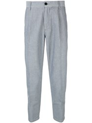 Haikure Cropped Trousers Grey