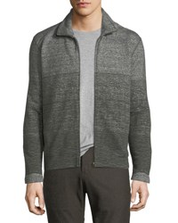 Billy Reid Gradient Cotton Track Jacket Charcpine