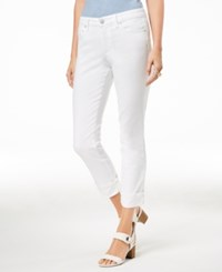 Maison Jules Cuffed Jeans Created For Macy's White Wash
