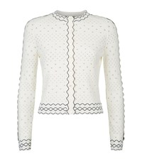 Alexander Mcqueen Lace Knit Cardigan Female Ivory