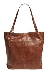 Hobo Lennon Leather Tote Brown Cafe