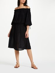 And Or Monique Metallic Sparkle Stripe Dress Black Gold Stripe