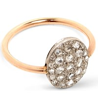 Annina Vogel 9Ct Rose Gold And Rose Cut Diamond Disc Cluster Ring