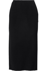 Isabel Marant Jupe Wool Blend Twill Midi Skirt Blue