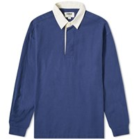Ymc The Swerve Rugby Shirt Blue