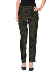 Monocrom Trousers Casual Trousers Women Military Green