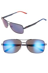 Carrera Men's Eyewear 61Mm Polarized Navigator Sunglasses Blue