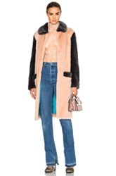 Shrimps Faux Fur Simon Coat In Pink