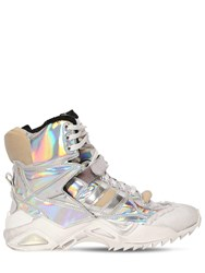 Maison Martin Margiela 50Mm Destroyed Iridescent Sneakers Silver