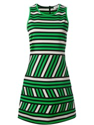 Lanvin Striped Pattern Dress Green