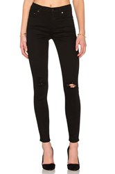 Citizens Of Humanity Rocket High Rise Skinny Black Rip