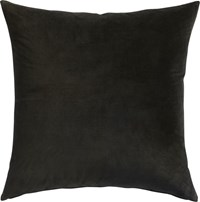 Cb2 Leisure Black 23'' Pillow With Feather Insert