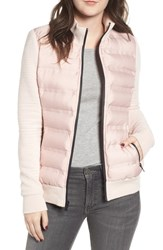 Marc New York Puffer Jacket With Knit Sleeves Chablis