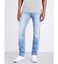 Replay Anbass Hyperflex Slim Fit Skinny Jeans Light Stone Wash