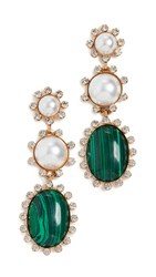 Elizabeth Cole Priscilla Earrings Pearl Green