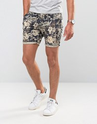 Scotch And Soda Shorts With Floral Print Floral Black