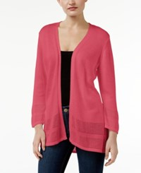 Jm Collection Petite Open Front Cardigan Only At Macy's Perfect Rose