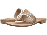 Jack Rogers Napa Valley Cork White Women's Sandals Silver