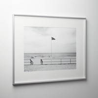 Cb2 Gallery Brushed Silver 18X24 Picture Frame