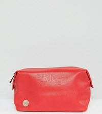 Mi Pac Exclusive Scarlett Tumbled Faux Leather Wash Bag Scarlett Red