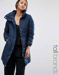 Vero Moda Tall Funnel Neck Padded Coat Total Eclipse Navy