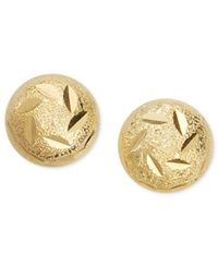 Giani Bernini 24K Gold Over Sterling Silver Earrings Decorated Ball Stud