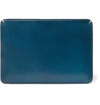 Il Bussetto Polished Leather Cardholder Blue