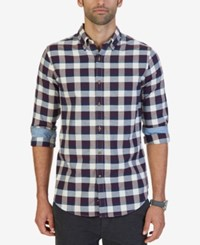 Nautica Men's Seedpearl Plaid Shirt Ablaze