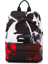 Mcq By Alexander Mcqueen Mcq Alexander Mcqueen Floral Collage Print Backpack Black