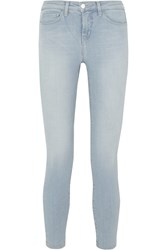 L'agence The Margot Cropped Mid Rise Skinny Jeans Light Denim
