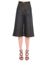 Valentino Stretch Denim Culotte Pants