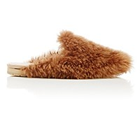 Helmut Lang Women's Shearling Mules Nude