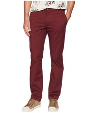 Rvca The Week End Stretch Pants Bordeaux Casual Pants Burgundy