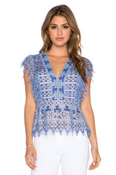 Bcbgmaxazria Ambar Top Blue