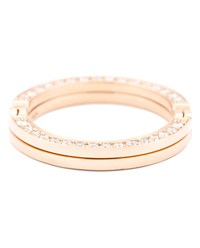 Kim Mee Hye Twisted Gold And Diamond Ring Pink White