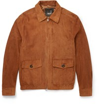 Dunhill Harrington Suede Jacket Tan