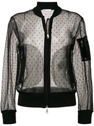Red Valentino Sheer Bomber Jacket Black