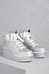 Forever 21 Y.R.U. Qozmo Holographic Sneakers Silver