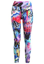 Reebok Elle Takeover Tights Chalk Multicoloured