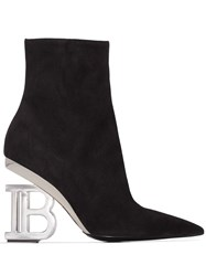 Balmain Nicole 95Mm Ankle Boots Black