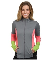 Spanx Active Mod Bod Jacket Cool Gray Hot Peach Women's Jacket