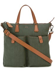 Zanellato Contrast Shoulder Bag Green