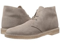 Clarks Desert Boot Taupe Distressed Suede Men's Lace Up Boots