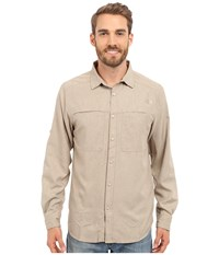 The North Face Long Sleeve Traverse Shirt Dune Beige Heather Prior Season Clothing