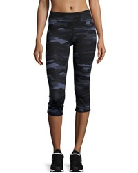 Marc Ny Performance Camo Print Cropped Leggings Black Camo
