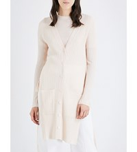 See By Chloe Side Split Wool Cardigan Dusty Beige