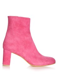 Maryam Nassir Zadeh Agnes Suede Ankle Boots Pink