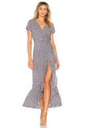 Auguste Daisy Love Wrap Maxi Dress Blue